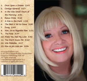 Jane Bakken's Music CD - Love & Passion, Music of the Soul, In Any Language